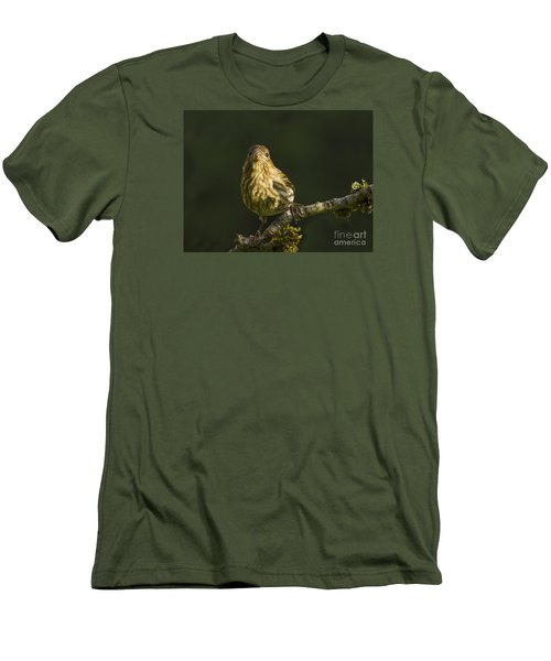 Men's T-Shirt (Slim Fit) featuring the photograph Female House Finch by Inge Riis McDonald
