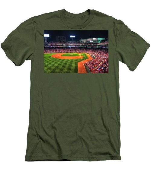 Fenway Park At Night - Boston Men's T-Shirt (Slim Fit) by Joann Vitali