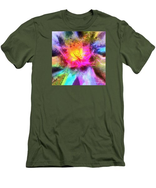 Men's T-Shirt (Slim Fit) featuring the photograph Floral Mandala 01 by Jack Torcello