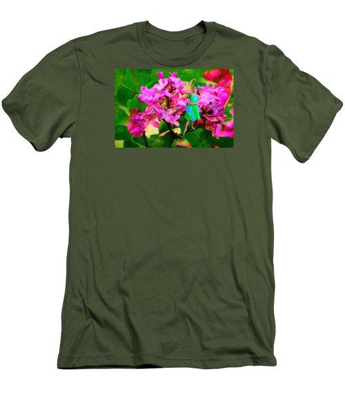 Flower Fairy  Men's T-Shirt (Slim Fit) by Andre Faubert