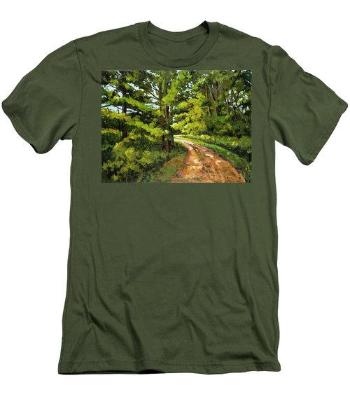 Forest Pathway Men's T-Shirt (Slim Fit) by Alexandra Maria Ethlyn Cheshire