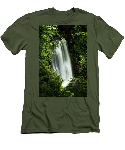 Forest Waterfall Men's T-Shirt (Athletic Fit)