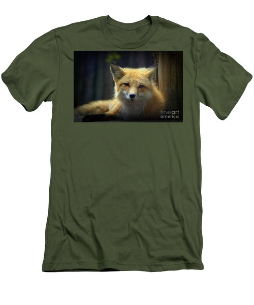 Men's T-Shirt (Slim Fit) featuring the photograph Fox by Lisa L Silva