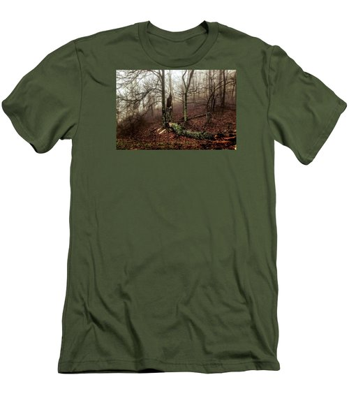 Fractured In Fog Men's T-Shirt (Athletic Fit)