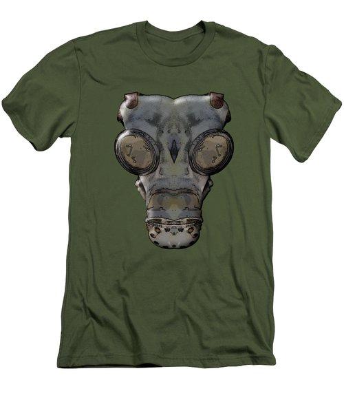 Gas Mask Men's T-Shirt (Slim Fit) by Michal Boubin