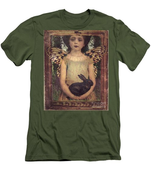 Men's T-Shirt (Slim Fit) featuring the digital art Girl In The Garden by Alexis Rotella