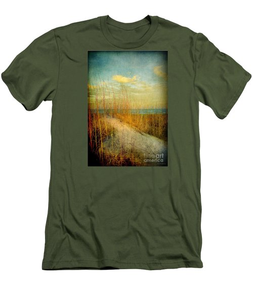 Golden Dune Men's T-Shirt (Slim Fit) by Linda Olsen