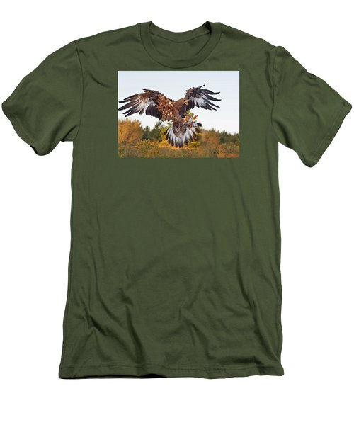 Golden Eagle Men's T-Shirt (Slim Fit) by CR  Courson