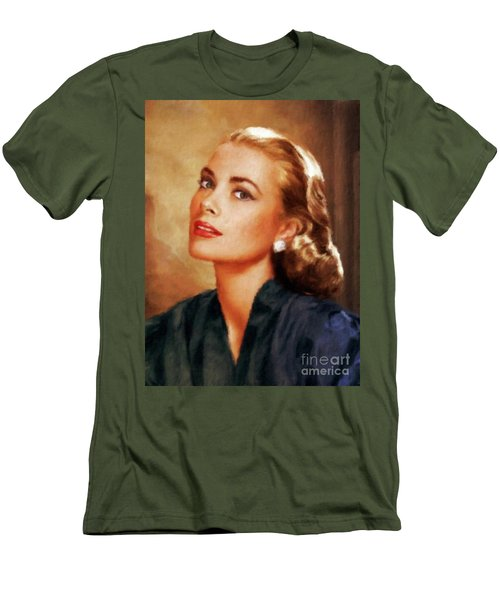Grace Kelly, Actress And Princess Men's T-Shirt (Slim Fit) by Mary Bassett