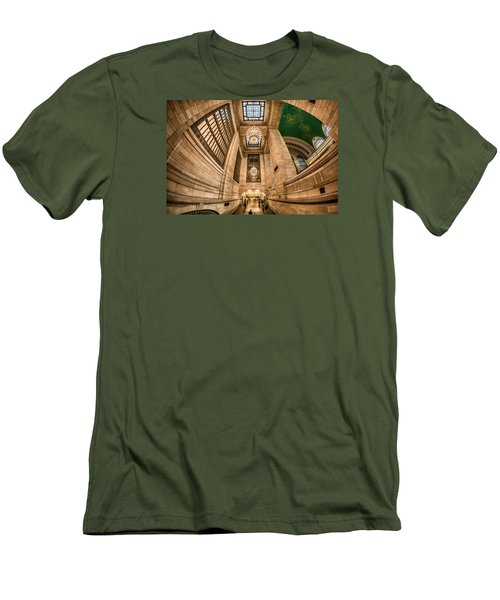 Men's T-Shirt (Slim Fit) featuring the photograph Grand Central Terminal Underpass by Rafael Quirindongo