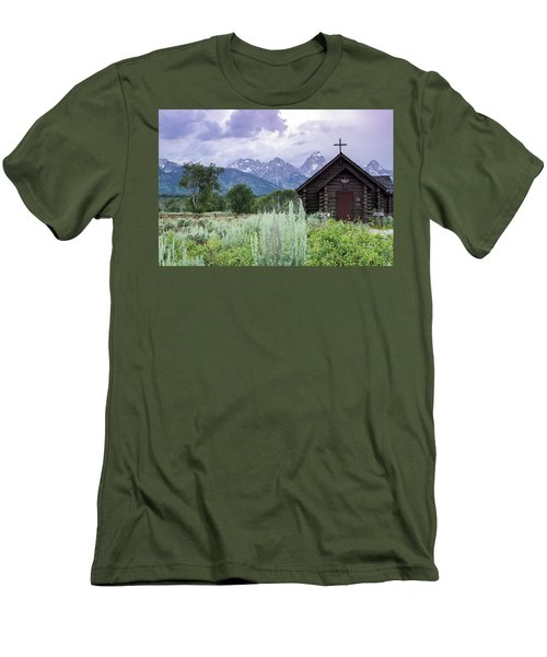 Grand Teton Church Men's T-Shirt (Athletic Fit)
