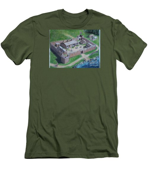 Great Lakes North Trading Post Men's T-Shirt (Slim Fit)