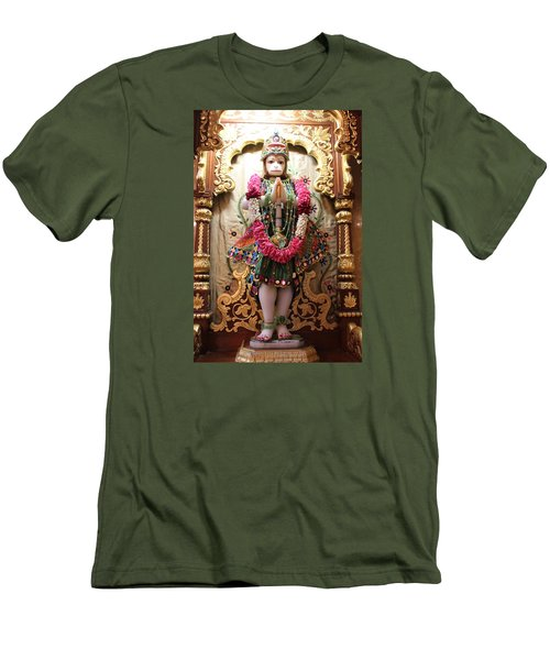 Hanuman Ji, Radha Gopinath Mandir, Mumbai Men's T-Shirt (Slim Fit) by Jennifer Mazzucco