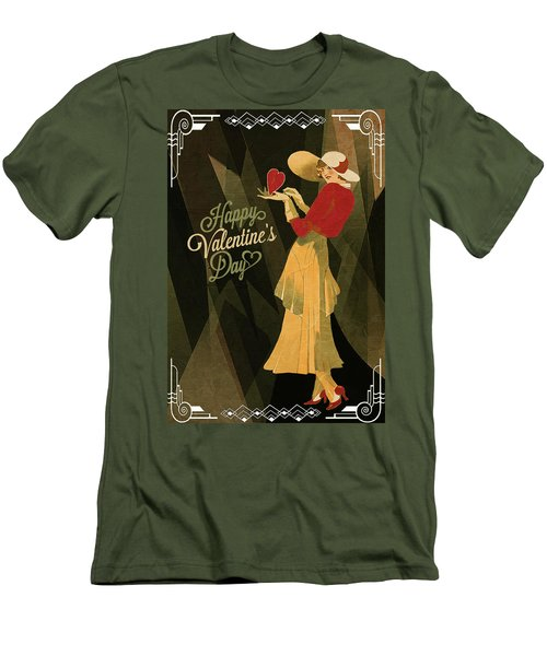 Men's T-Shirt (Slim Fit) featuring the digital art Happy Valentines Day by Jeff Burgess