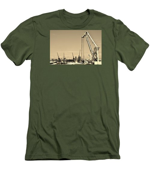 Men's T-Shirt (Slim Fit) featuring the photograph Harbor Impression by Werner Lehmann