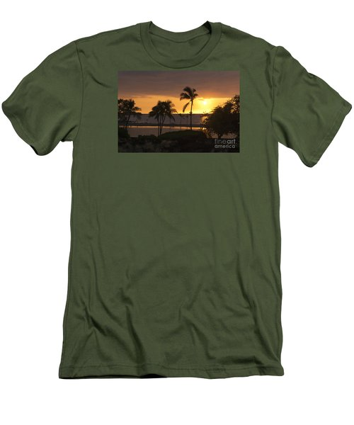 Hawaiian Sunset Men's T-Shirt (Slim Fit)