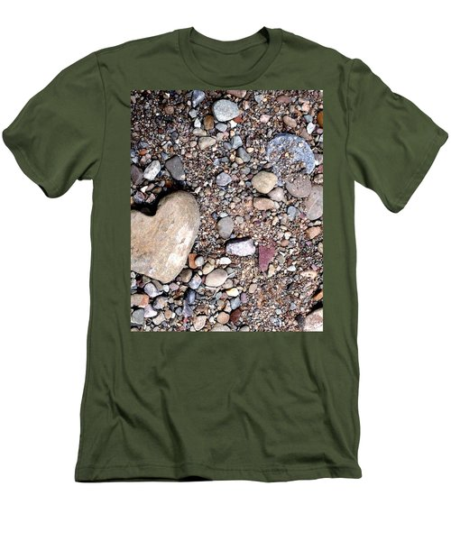 Heart Of Stone Men's T-Shirt (Slim Fit) by Danielle R T Haney