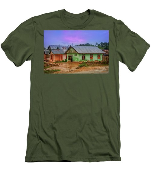 Men's T-Shirt (Slim Fit) featuring the photograph Houses by Charuhas Images
