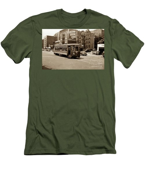 Men's T-Shirt (Athletic Fit) featuring the photograph Inwood Trolley by Cole Thompson