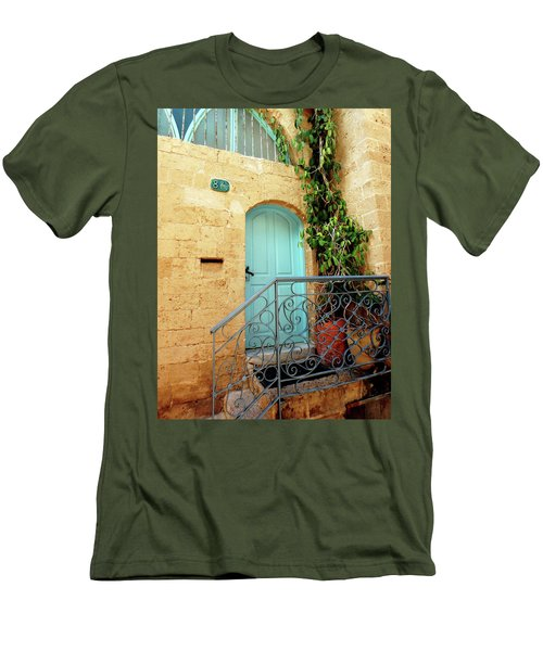 Jaffa-israel Men's T-Shirt (Slim Fit) by Denise Moore