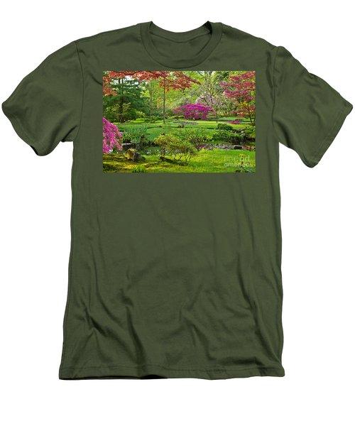 Japanese Garden Men's T-Shirt (Slim Fit) by Anastasy Yarmolovich