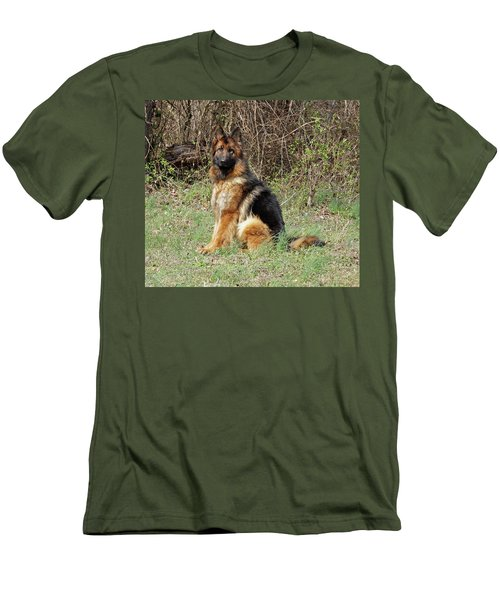 Men's T-Shirt (Slim Fit) featuring the photograph Jessy by Sandy Keeton