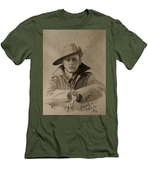 Men's T-Shirt (Slim Fit) featuring the painting Joe by Ray Agius