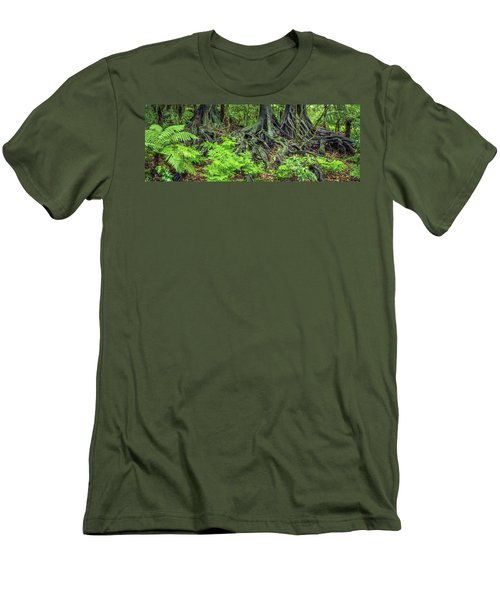 Men's T-Shirt (Slim Fit) featuring the photograph Jungle Roots by Les Cunliffe