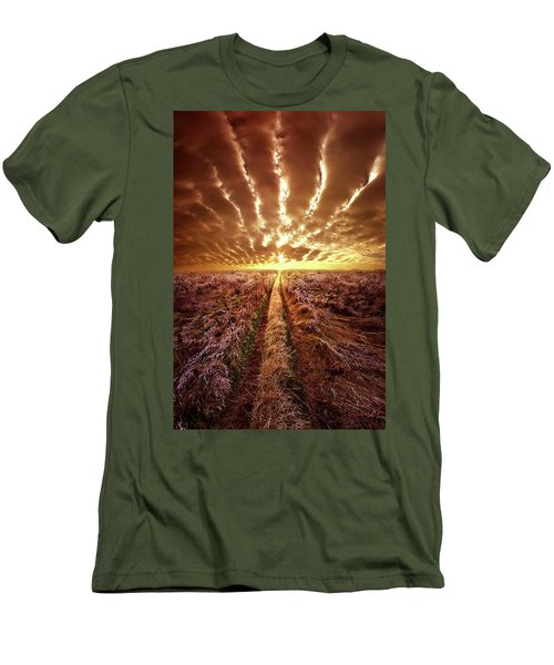Men's T-Shirt (Slim Fit) featuring the photograph Just Over The Horizon by Phil Koch