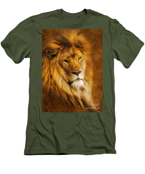 King Of The Beasts Men's T-Shirt (Slim Fit) by Ian Mitchell