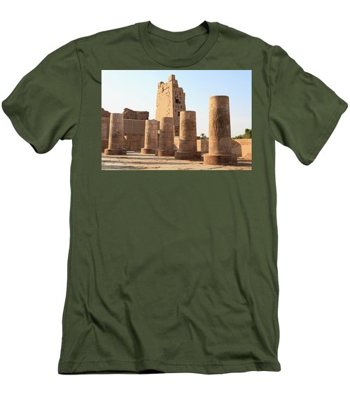 Men's T-Shirt (Athletic Fit) featuring the photograph Kom Ombo by Silvia Bruno
