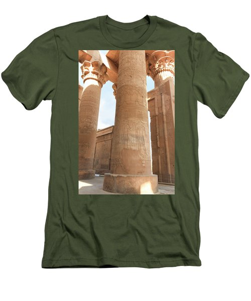 Men's T-Shirt (Athletic Fit) featuring the photograph Kom Ombo Temple by Silvia Bruno