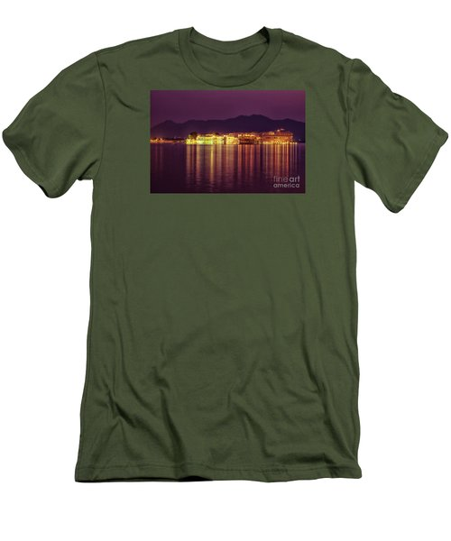 Men's T-Shirt (Athletic Fit) featuring the photograph Lake Palace Night Scenery by Yew Kwang