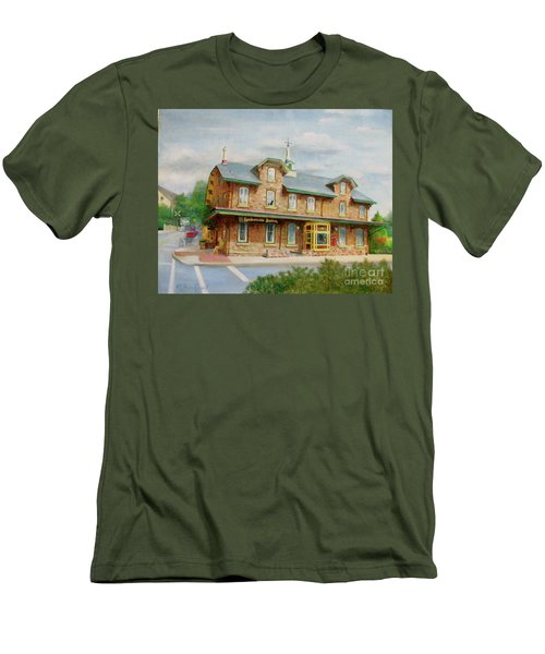 Lambertville Inn Men's T-Shirt (Slim Fit) by Oz Freedgood