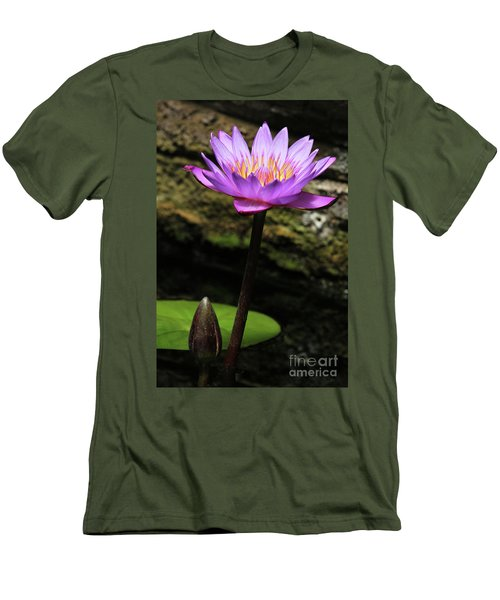 Lavender Water Lily #4 Men's T-Shirt (Athletic Fit)