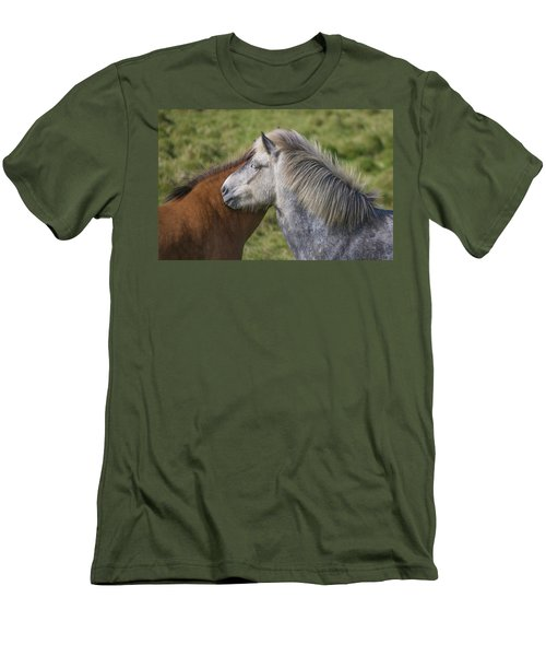 Men's T-Shirt (Slim Fit) featuring the photograph Lean On Me by Elvira Butler