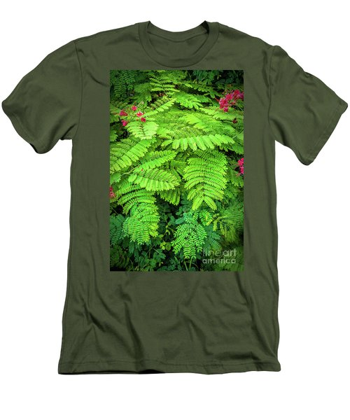 Men's T-Shirt (Slim Fit) featuring the photograph Leaves by Charuhas Images