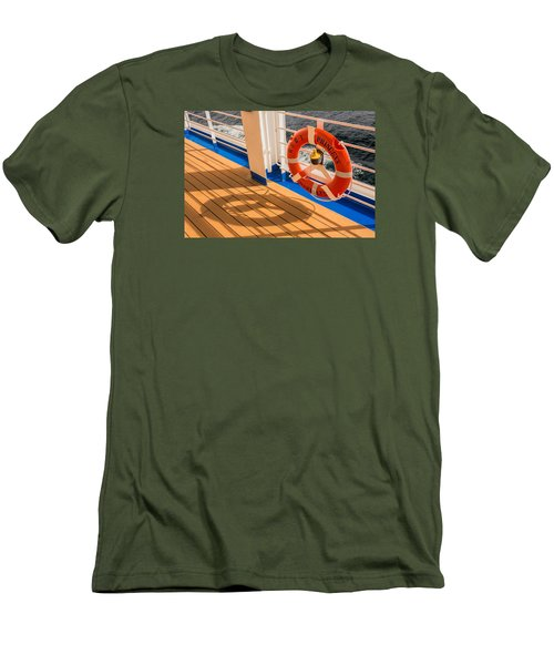Men's T-Shirt (Slim Fit) featuring the photograph Life Saver by Lewis Mann