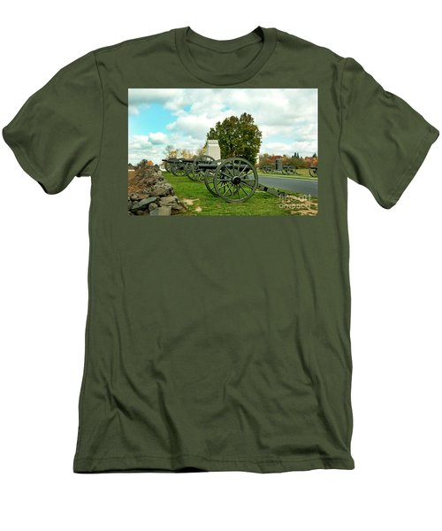 Men's T-Shirt (Slim Fit) featuring the photograph Line Of Fire by Paul W Faust - Impressions of Light