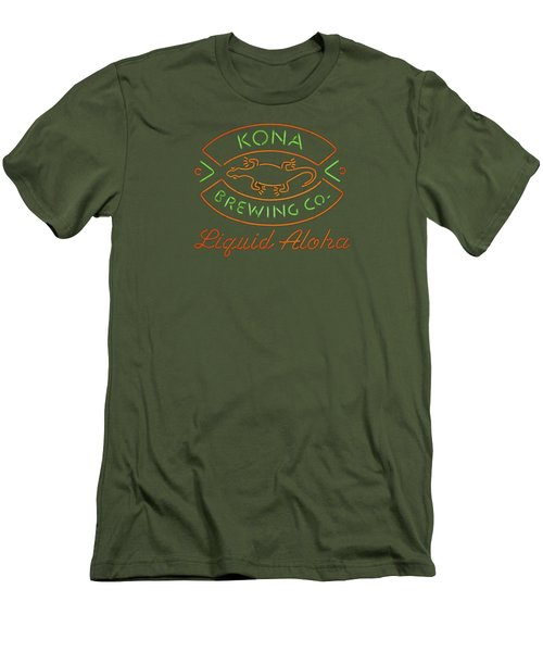 Liquid Aloha Men's T-Shirt (Slim Fit) by Dan McManus