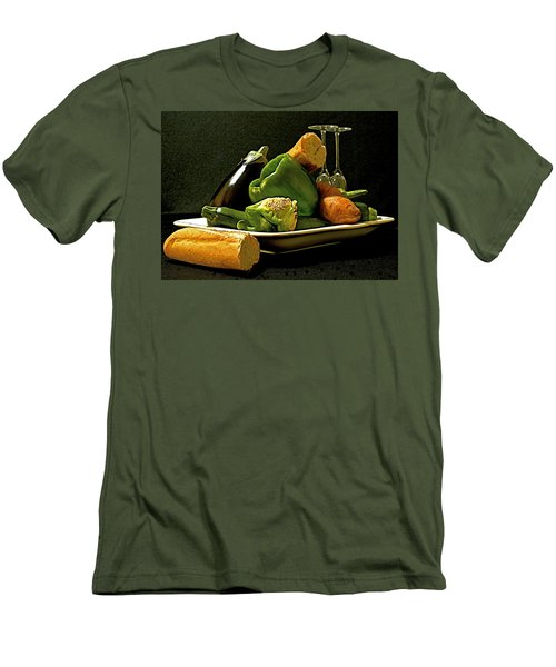 Men's T-Shirt (Slim Fit) featuring the photograph Lunch Time by Elf Evans