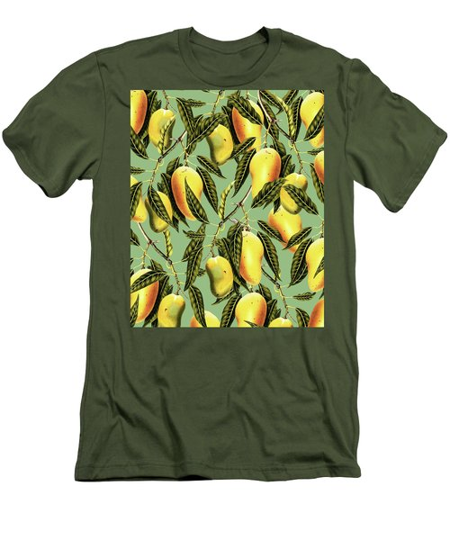 Mango Season Men's T-Shirt (Slim Fit) by Uma Gokhale