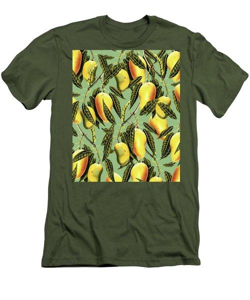 Mango Season Men's T-Shirt (Slim Fit) by Uma Gokhale