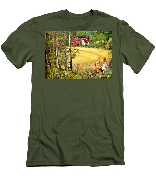 Memories For Mom Men's T-Shirt (Slim Fit) by Marilyn Smith