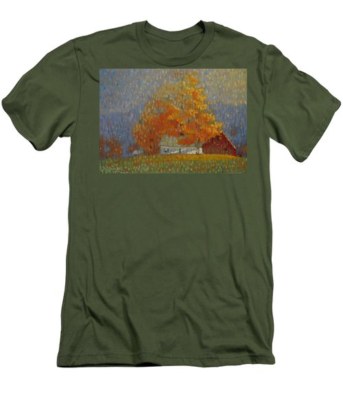 Middle Farm Foliage Men's T-Shirt (Athletic Fit)