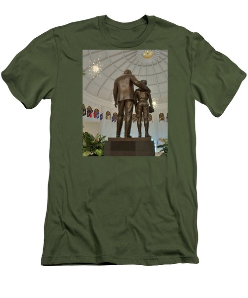 Milton Hershey And The Boy Men's T-Shirt (Slim Fit) by Mark Dodd