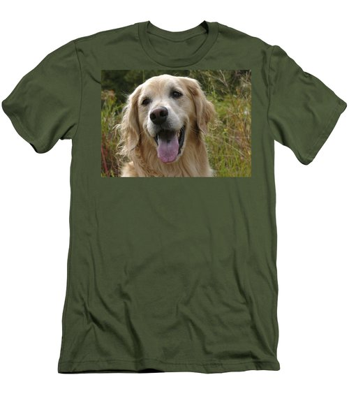 Morgie Men's T-Shirt (Slim Fit) by Rhonda McDougall