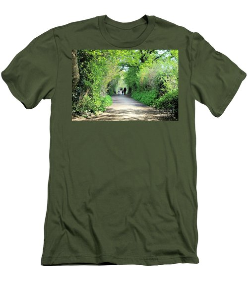 Men's T-Shirt (Slim Fit) featuring the photograph Morning Walk by Katy Mei