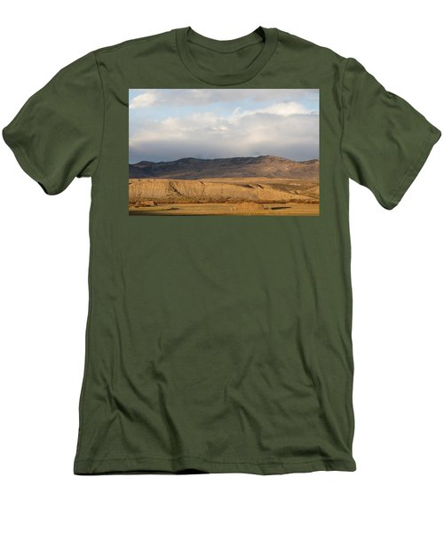 Men's T-Shirt (Slim Fit) featuring the photograph Mountain Meadow And Hay Bales In Grand County by Carol M Highsmith