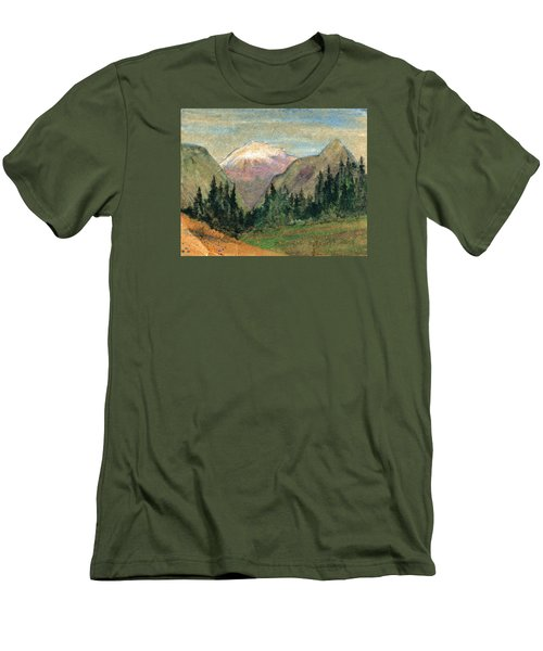 Mountain View Men's T-Shirt (Slim Fit) by R Kyllo